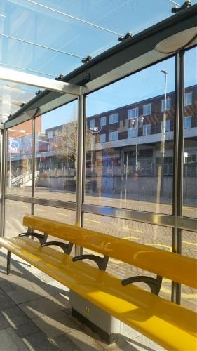 New bus shelter in the Hemel Hempstead Bus Interchange